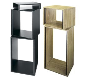 middle atlantic products laminat racks in schwarzer holz. Black Bedroom Furniture Sets. Home Design Ideas