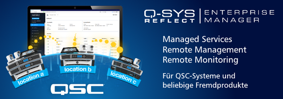 Managed Services von QSC - Q-SYS REFLECT Enterprise Manager