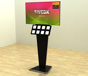 SWEDX Wave Totem for digital signage applications