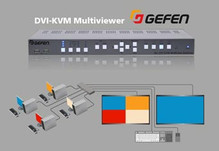 Gefen DVI KVM multiviewer: Interface four computers to one dual-screen workstation