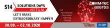 Virtual S14 Solutions Days: from 30.09. to 02.10.2020 at COMM-TEC